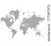 pixel map of world. vector... | Shutterstock .eps vector #777397375