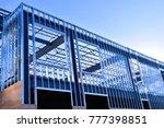 steel frame work of new... | Shutterstock . vector #777398851