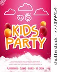 kids party art flyer design.... | Shutterstock .eps vector #777399454