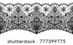 black lace ribbon isolated on... | Shutterstock . vector #777399775