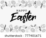easter eggs decorative... | Shutterstock .eps vector #777401671