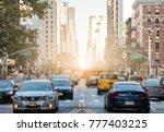 traffic along 3rd avenue in... | Shutterstock . vector #777403225
