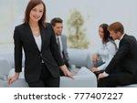 business team discussing... | Shutterstock . vector #777407227