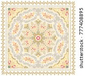 decorative colorful ornament on ... | Shutterstock .eps vector #777408895