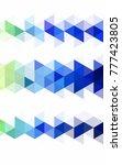light blue  green low poly... | Shutterstock . vector #777423805