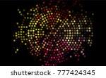 dark multicolor  rainbow vector ...   Shutterstock .eps vector #777424345