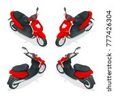 trendy electric scooter ... | Shutterstock .eps vector #777426304
