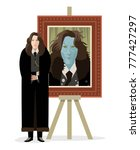 great writer and cursed evil... | Shutterstock .eps vector #777427297