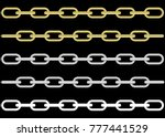 collection of metal and gold...   Shutterstock .eps vector #777441529