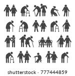 elderly people icons. aged or... | Shutterstock .eps vector #777444859