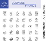 universal business and finance... | Shutterstock .eps vector #777450451