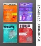 set of vector brochure flyer... | Shutterstock .eps vector #777454429