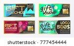 set of vector brochure flyer... | Shutterstock .eps vector #777454444