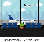 airport waiting room or... | Shutterstock .eps vector #777456544