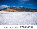 white snow covered taos pueblo... | Shutterstock . vector #777464554