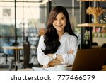portrait of a young... | Shutterstock . vector #777466579