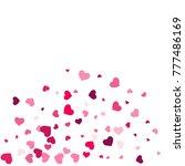 heart confetti beautifully... | Shutterstock .eps vector #777486169