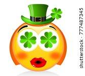 st. patrick's day   girl emoji... | Shutterstock . vector #777487345