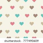 sweet heart vector seamless | Shutterstock .eps vector #777490609