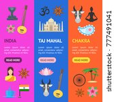 cartoon india banner vecrtical... | Shutterstock .eps vector #777491041