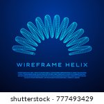 wireframe low poly mesh tension ... | Shutterstock .eps vector #777493429