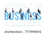 business. business concept in a ... | Shutterstock . vector #777494041