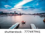 aerial view of hong kong...   Shutterstock . vector #777497941