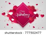 happy valentine's day festive... | Shutterstock . vector #777502477