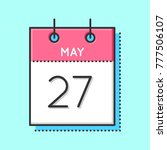 may calendar icon. flat and...