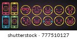 emoji and phone set symbols... | Shutterstock .eps vector #777510127