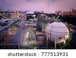gas storage sphere tanks in... | Shutterstock . vector #777513931