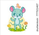 funny cartoon mouse for... | Shutterstock .eps vector #777521407