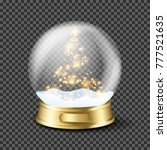 realistic transparent christmas ... | Shutterstock .eps vector #777521635