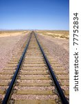 A Railroad Line Tails Away Int...