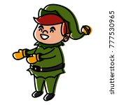 cute elf christmas cartoon | Shutterstock .eps vector #777530965