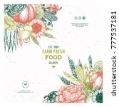 farm fresh design template.... | Shutterstock .eps vector #777537181