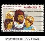 australia   circa 1972  a stamp ... | Shutterstock . vector #77754628