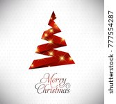 christmas card with pattern and ... | Shutterstock .eps vector #777554287