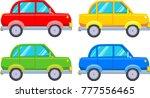 vector flat set of four multi... | Shutterstock .eps vector #777556465