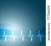 heart beats cardiogram vector... | Shutterstock .eps vector #77756029