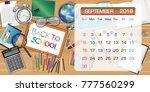 calendar of september 2018... | Shutterstock .eps vector #777560299