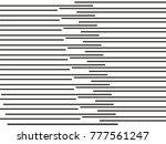 black horizontal lines striped... | Shutterstock .eps vector #777561247