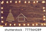 christmas lights with a... | Shutterstock . vector #777564289