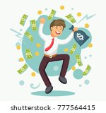 rich businessman  employee... | Shutterstock .eps vector #777564415
