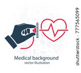 cardiology concept.... | Shutterstock .eps vector #777565099