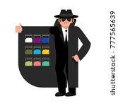 smuggler selling drugs. cocaine ... | Shutterstock .eps vector #777565639