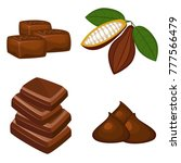 set of colorful chocolate...   Shutterstock .eps vector #777566479
