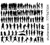 collection of people silhouettes | Shutterstock .eps vector #777567334