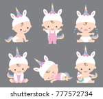 vector illustration of baby... | Shutterstock .eps vector #777572734
