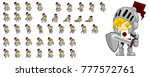 knight character animation for... | Shutterstock .eps vector #777572761